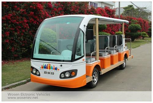 14 seats electric travelling bus shuttle bus  electric sightseeing car 2