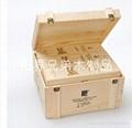 六支實木酒箱