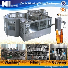Glass bottle wine filling line
