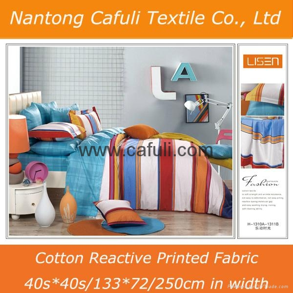China Supplier 100% Cotton Twill Reactive Printed Bedding Fabric 4