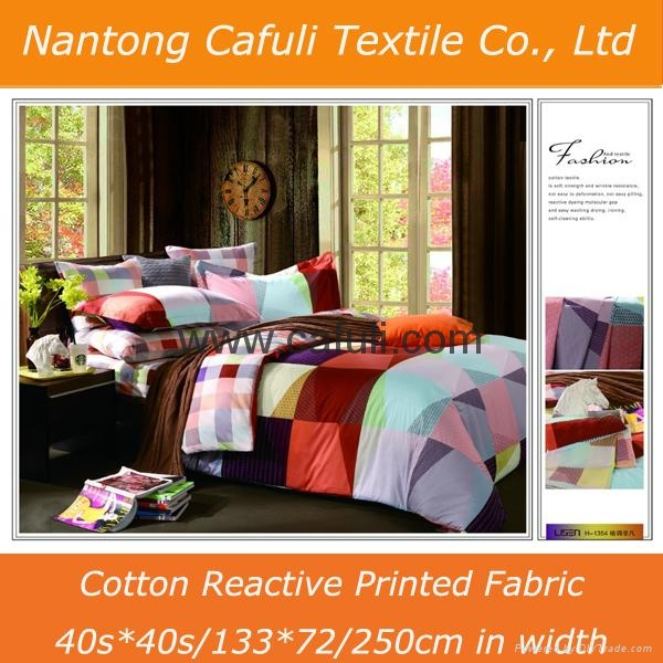 China Supplier 100% Cotton Twill Reactive Printed Bedding Fabric 5