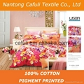 New Products100% Cotton Twill Pigment Printed Bedding Fabric 2