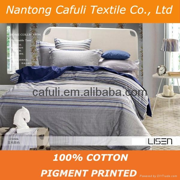 New Products100% Cotton Twill Pigment Printed Bedding Fabric 3