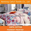 New Products100% Cotton Twill Pigment Printed Bedding Fabric 5