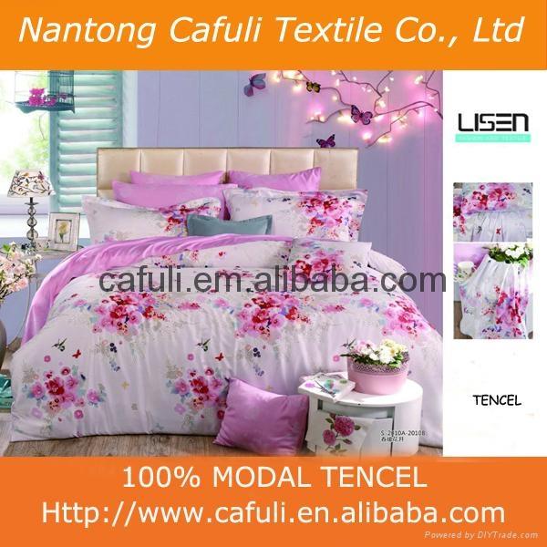 100% Lenzing Tencel Modal Reactive Printed Bedding Fabric 1