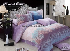 Popular Selling 100% Cotton Pigment Printed Bedding Textile Fabric