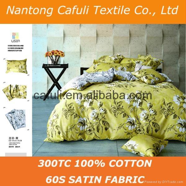 High Quality 100% Original Cotton Satin Printed Bedding Textile Fabric 3
