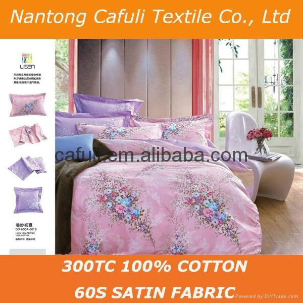 High Quality 100% Original Cotton Satin Printed Bedding Textile Fabric 5