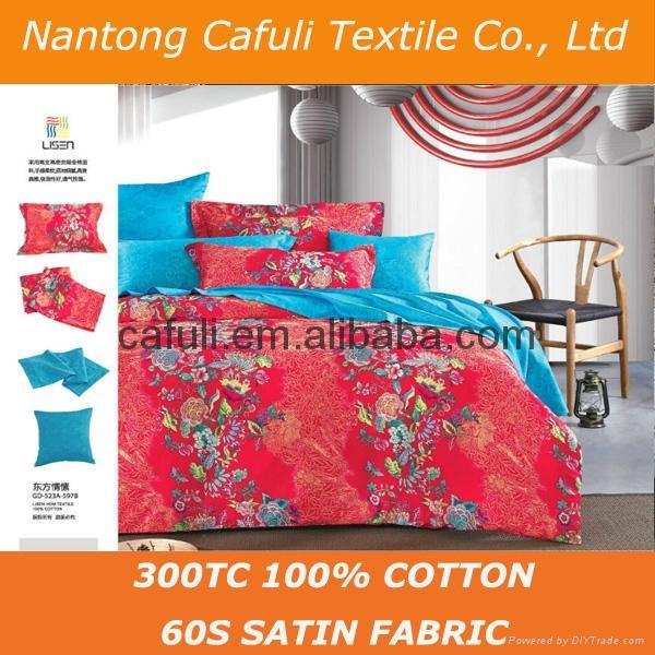 High Quality 100% Original Cotton Satin Printed Bedding Textile Fabric 4