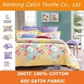China Manufacturer 100% origin cotton satin reactive printing bed sheet fabric 2