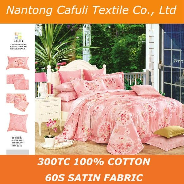China Manufacturer 100% origin cotton satin reactive printing bed sheet fabric 3