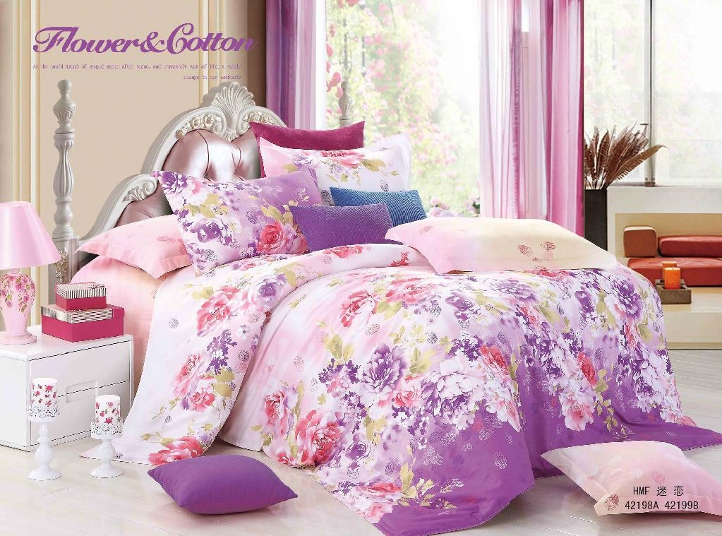 Low Price Best Selling 100% Cotton Pigment Printing Woven Fabrics For Bedding 2