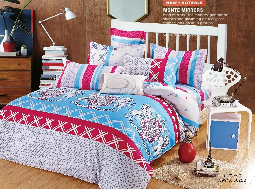 Low Price Best Selling 100% Cotton Pigment Printing Woven Fabrics For Bedding 3