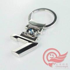 BMW 7 metal car logo keychains