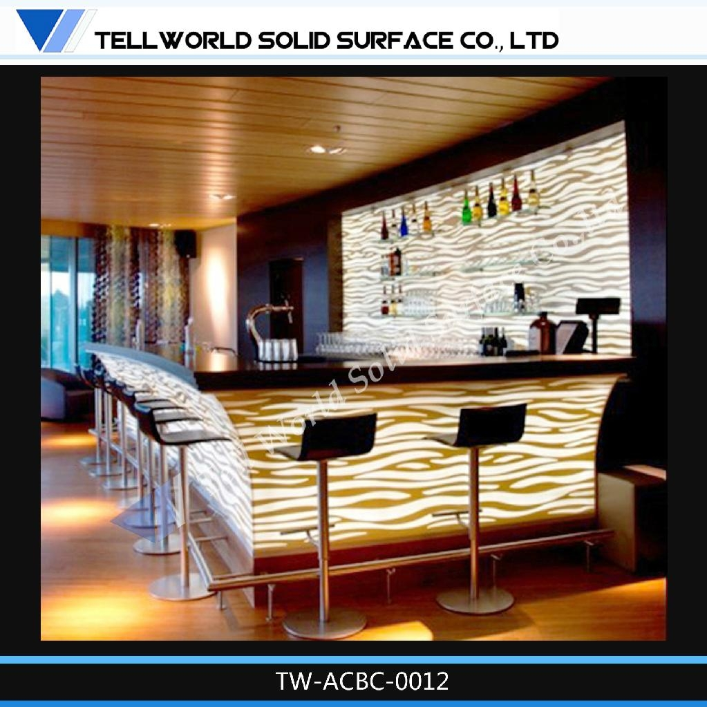Corian acrylic solid surface modern style design wine bar counter tw china trading company for Modern bar counter designs for home