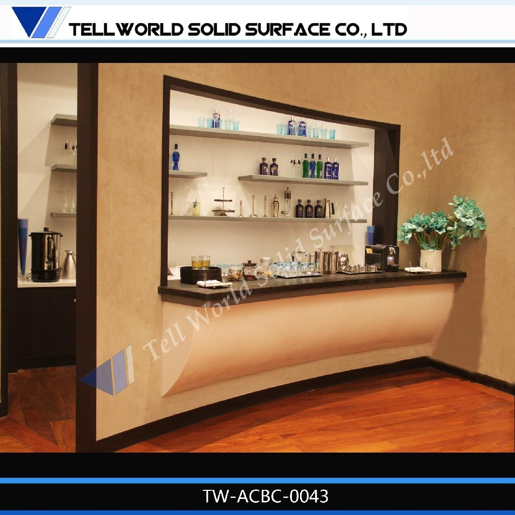 corian acrylic solid surface modern style design wine bar counter tw