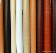 PVC wood grain decorative film