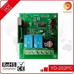 Yedear 2 Channel DC12-24V Wide voltage Wireless Remote Control Switch YD202PC