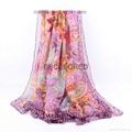 Fashion lady spring summer silk chiffon