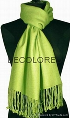 wool silk plain scarf sh