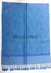 New fashion paisley Jacquard lady spring summer scarf passed EU Reach STANDARD