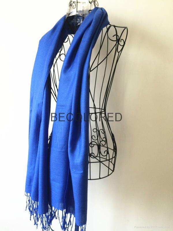 Fashion acrylic viscose yarn dyed twill weave plain scarf shawl MEET EU STARDARD 2