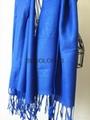 Fashion acrylic viscose yarn dyed twill weave plain scarf shawl MEET EU STARDARD 1