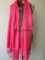 Fashion acrylic viscose yarn dyed twill weave plain scarf shawl MEET EU STARDARD 3