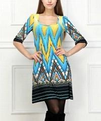 newest lady fashion long dress for America