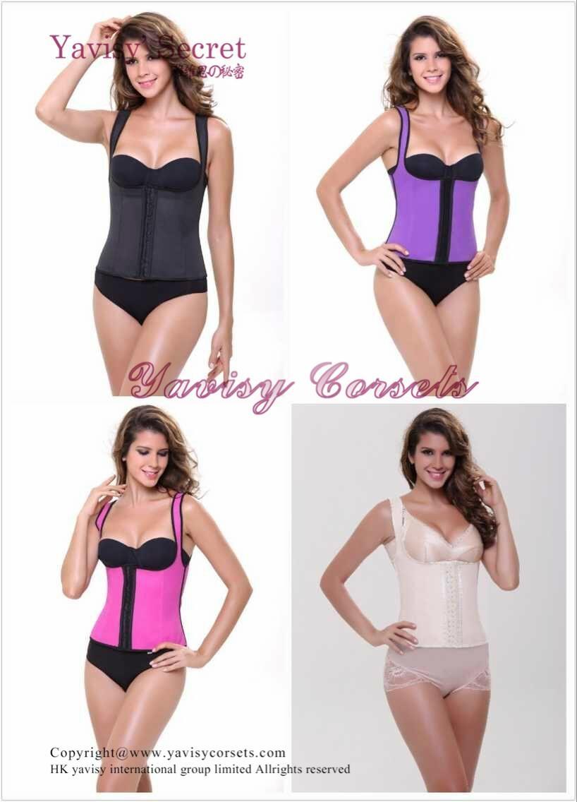 2016 wholesale slim latex waist trainers and latex corset latex waist cincher 3
