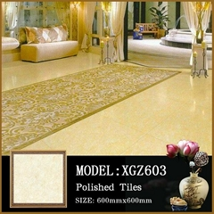 Crystal white granite tiles with economic floor polished ceramic tiles 60x60
