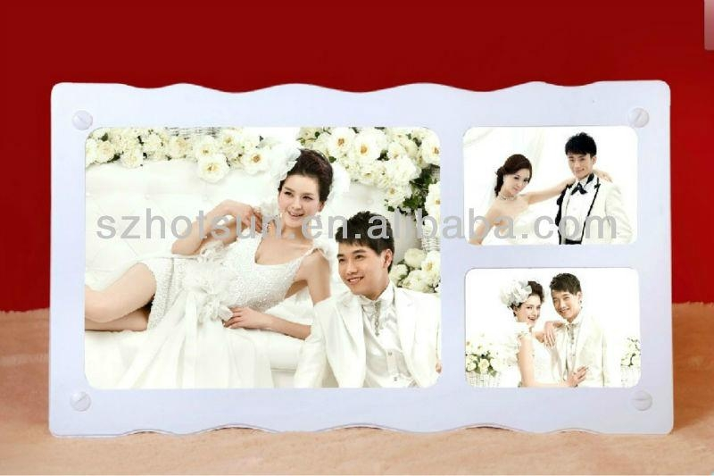 acrylic customized wedding photo frame 5