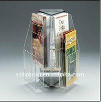 fashionable acrylic magazine holder countertop 1