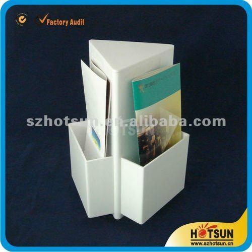 fashionable acrylic magazine holder countertop 2