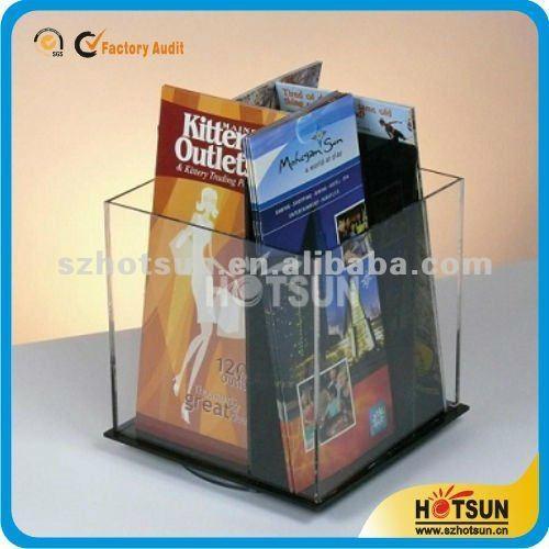 fashionable acrylic magazine holder countertop 3