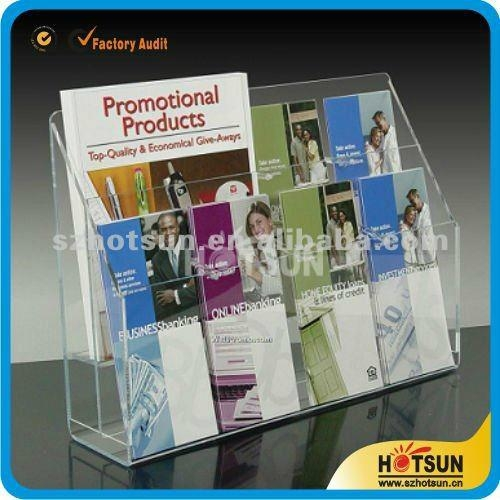 fashionable acrylic magazine holder countertop 4