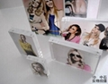 4x6 inch clear acrylic photo frame stand