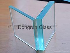 精磨邊拋光鋼化玻璃