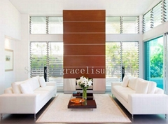 window glass shutters / Louver glass for window , wall or door