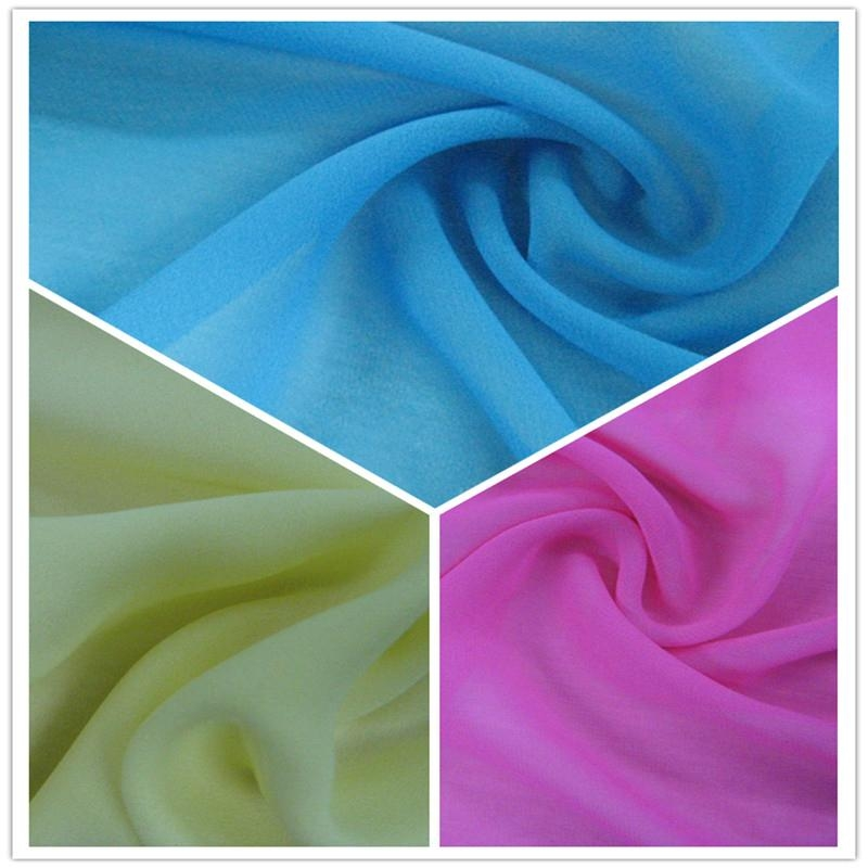 SGS Polyester Solid Chiffon/Georgette Fabric (JLF) 1