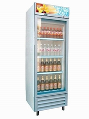 浙江寧波玻璃門展示飲料櫃