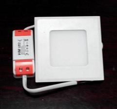 高亮室內照明精品燈具超薄方形2.5寸led天花燈