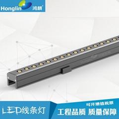 LED 线条灯小功率洗墙灯带支架可调投射角度