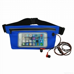 Waist bag with touch window