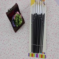 9pcs hot sale new professional design black nail art design brushes set painting