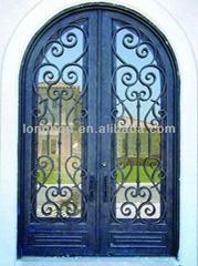 iron double door