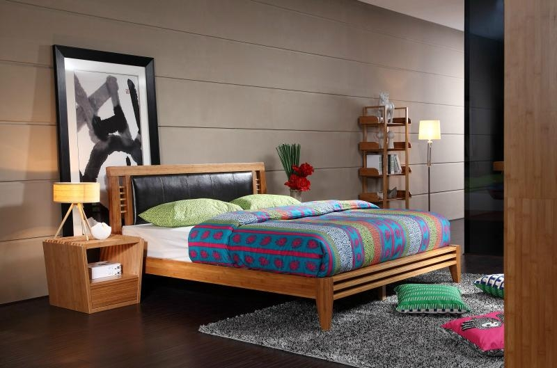 Eco Friendly Modern Carbonized Bamboo home furniture bedroom hotel