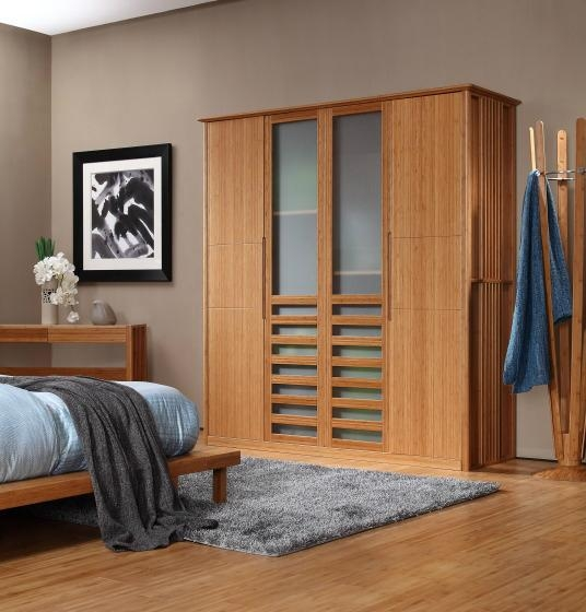 Eco friendly modern carbonized bamboo home furniture for Eco friendly bedroom ideas
