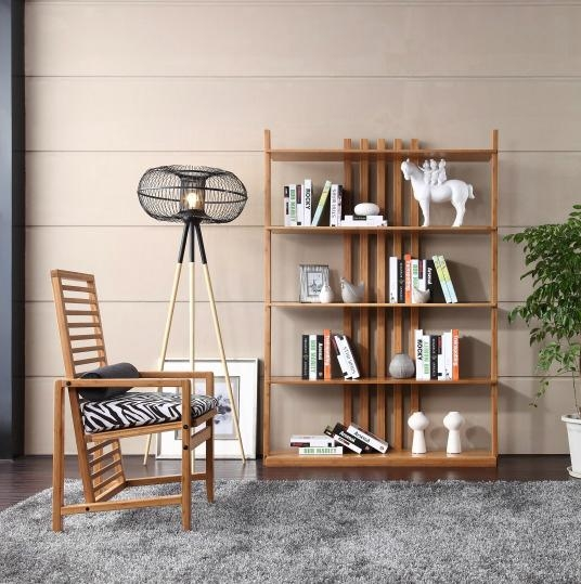 simple generous bamboo reading room book shelf - s201 - bamboo yue