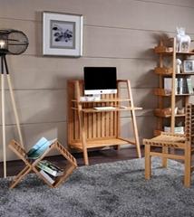 Simple perfect design bamboo home computer desk